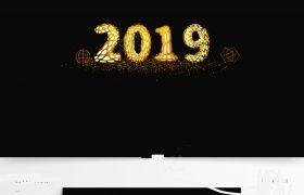 C4D字体2019金色纹路设计艺术字模型