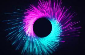 炫酷动感多种色彩样式粒子光拼合汇聚LOGO开场AE素材