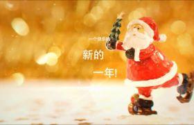 唯美圣诞新年雪花汇聚美好祝福文字温暖圣诞节照片模板