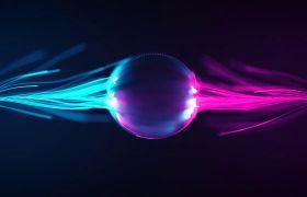 炫酷慢动作粒子汇聚多种颜色可调LOGO标志展示AE素材