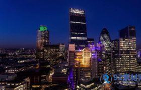 唯美现代科技城市夜景风光高清实拍视频素材