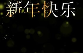 金色灿烂星光新年祝福手机竖屏小视频模板