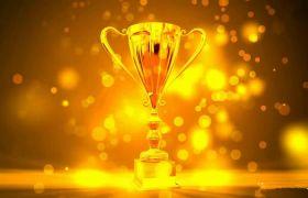 大气金色奖杯年会颁奖典礼图文介绍会声会影模板