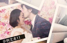 现代时尚简约风婚礼相册照片展示婚庆开场AE素材