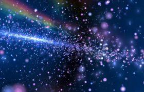 绚丽三维空间炫光粒子银河LED舞台背景视频素材