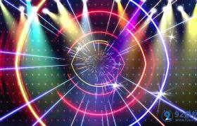 动感炫彩演出舞台酒吧灯光背景视频素材