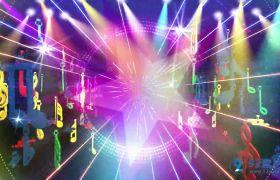 炫彩动感音乐字符演出夜场舞台背景视频素材