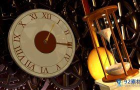 复古钟表沙漏怀旧时光流逝视频素材