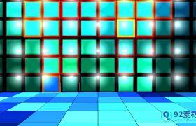 简约方块闪动发光舞蹈晚会演出背景视频素材