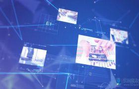 大气现代化数字技术科技连线商务宣传模板