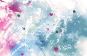 抽象时尚五彩斑斓水彩晕染涂鸦婚礼背景视频