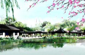 中国风唯美江南美景背景视频素材
