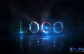 大气震撼电流火花闪电logo片头动画模板