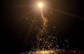 绚丽金色光晕粒子散落特效高清LED舞台背景视频素材