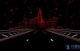 梦幻线条城市慢摇酒吧视觉冲击背景视频素材