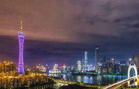 唯美广州城市延时高清夜景实拍视频素材