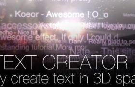 AE脚本:比较难找的AE文字插件脚本3D_text_creator