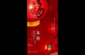 中国风春节新年宣传问候竖屏小视频模板