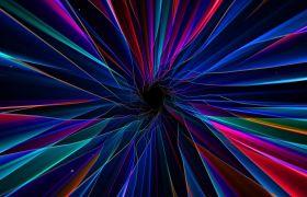 4K动感炫酷彩色线条隧道VJ视觉冲击视频素材