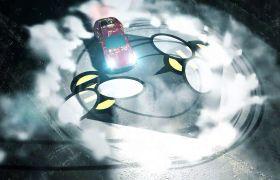 创意炫酷赛车漂移烟雾飘散特效LOGO标志展示开场AE素材