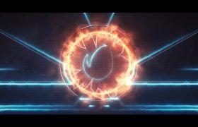 抽象科幻环形能量光效标志logo开场模板