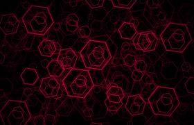 抽象六边形色彩变换循环背景视频素材