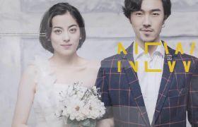 时尚现代圆形遮罩拼合特效光晕漏光闪烁婚礼开场相册展示AE素材
