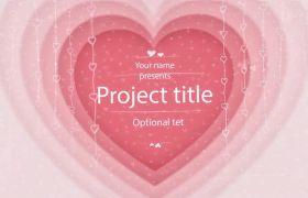 唯美浪漫爱情婚礼情人节告白视频包装模板