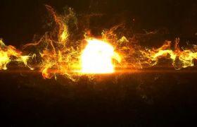 炫酷大气粒子光穿梭汇聚飘散特效字幕条LOGO标志展示AE素材