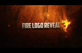 炫酷大气火焰燃烧浮现特效多种色彩作风字幕LOGO开场展现AE素材