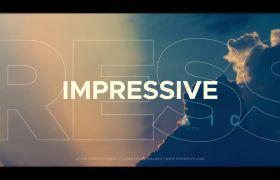 时尚现代节奏动感图文快闪活动宣传片展示AE素材