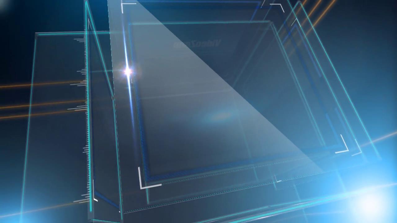 炫酷光影闪烁科技玻璃三维立方体背景视频ae素材