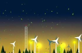 清新可爱植树节环保公益宣传儿童卡通动画视频