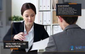 大气简洁动态线条点缀公司商务图文展示宣传片AE素材
