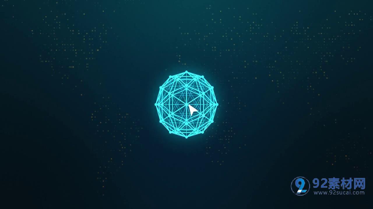 高端科幻多維立體效果未來科技感宣傳片背景視頻ae素材圖片