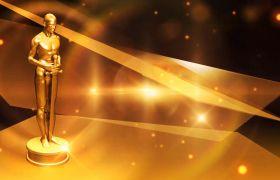 大气金色奥斯卡风格颁奖典礼开场会声会影模板
