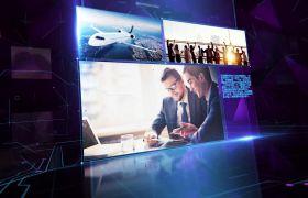 商务科技感视频展示新闻栏目包装片头模板