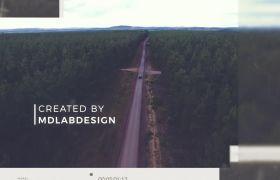 简洁优雅图文排版视频展示幻灯片模板