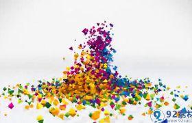 炫酷动感多种风格炫彩颗粒拼合汇聚效果LOGO标志开场展示AE素材