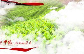红色丝带云层飘动视频包装图文宣传PR模板