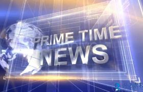 现代科技感三维字幕标题展示高端新闻电视栏目包装AE素材