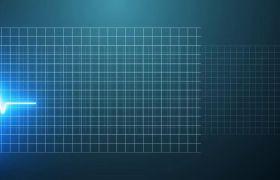 科技感动态光点心电图显示logo标志模板