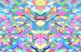 彩色立体几何形状VJ动态视频素材