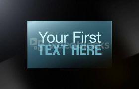 手指触屏光滑视频演示切换幻灯片模板