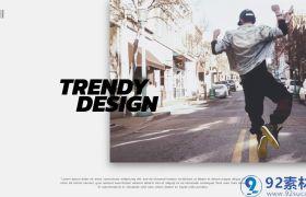 时尚简约大气鼓点节奏三维图文展示宣传片AE素材