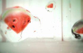创意水滴水果小清新视觉效果视频素材