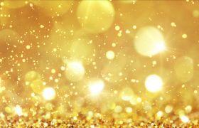 浪漫灿烂金色粒子漂浮背景视频素材