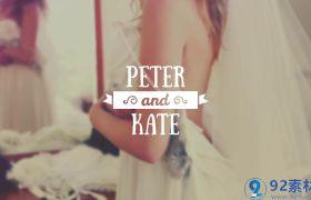 唯美浪漫洁白字幕条婚礼开场视频字幕包装展示AE素材