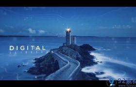 唯美大气三维视觉效果图文展示活动宣传视频AE素材