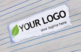 简单企业纸张便条文字文本演示动画模板